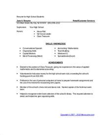resume template school student 9 student resume free sle exle format free