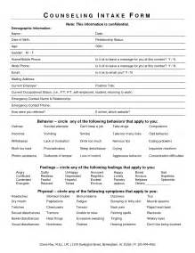 Student Intake Form Template by Counseling Intake Form Template Best Template Idea
