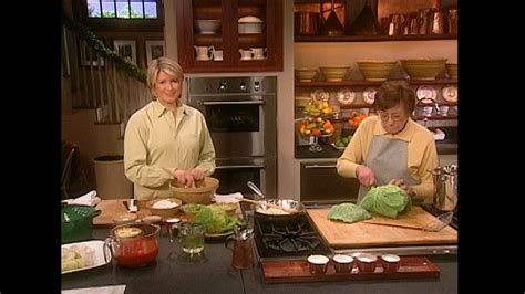 video stuffed cabbage video martha stewart