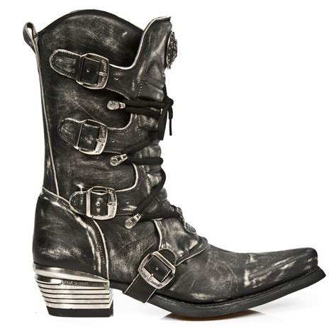 new rock mens boots m 7993 s3 new rock distressed black cowboy style boots