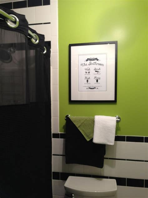 green and white bathroom ideas black and white with lime green bathroom bathroom ideas