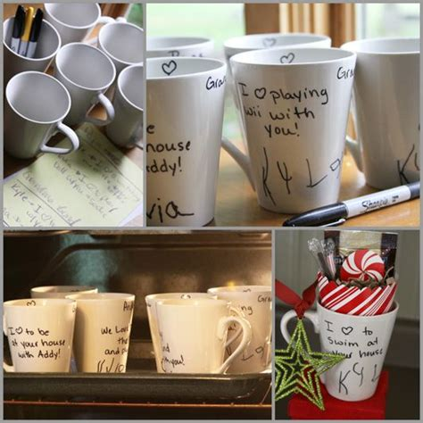 dollar store mugs your child s handwriting a great