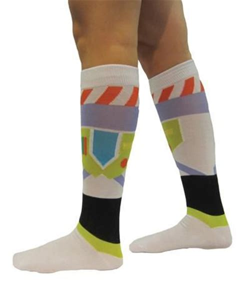 Stylehive Buzz Thigh High Scrunchable Socks Are As As They Are Cozy Fashiontribes Fashion story buzz lightyear knee high socks running costume
