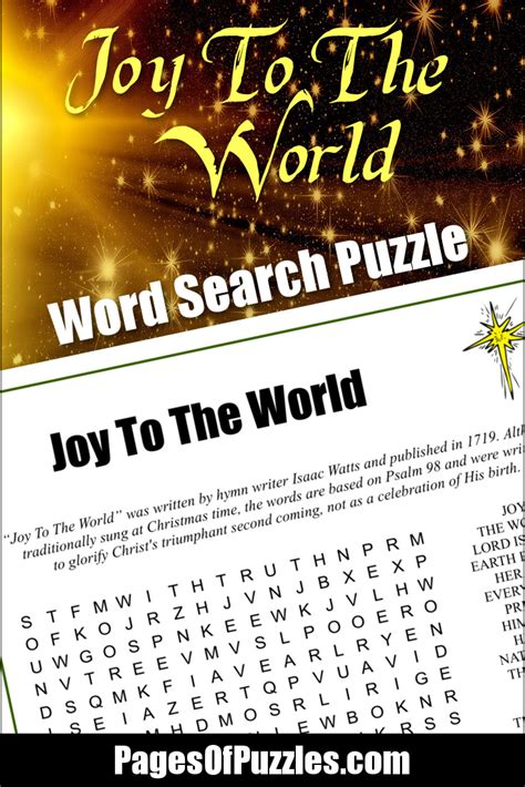 Search In World To The World Word Search Pages Of Puzzles