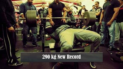 rock bench press big waqar s all 4 lifts incl 290kg the rock gym