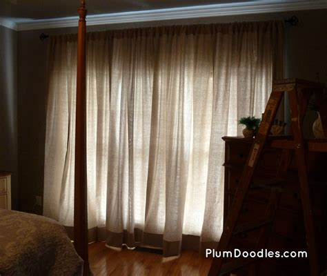 Master Bedroom Curtains From Drop Cloths