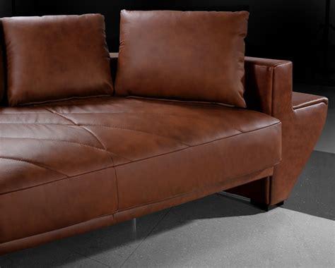Jupiter Brown Leather Sectional Sofa Black Design Co