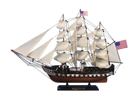 wooden boat model uss constitution tall ship