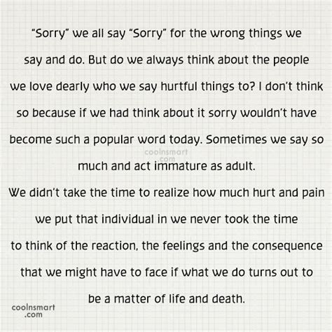 how do you say sorry quotes