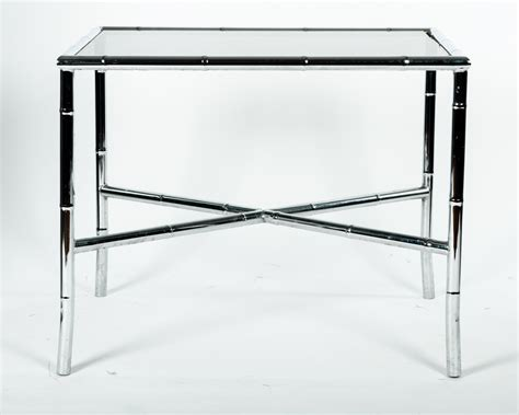 Mid Century Modern Tinted Glass Top Coffee Table Omero