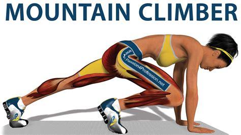exercices cardio mountain climber