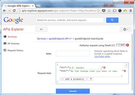 google forms api tutorial gradle tutorial part 9 cloud endpoints persistence