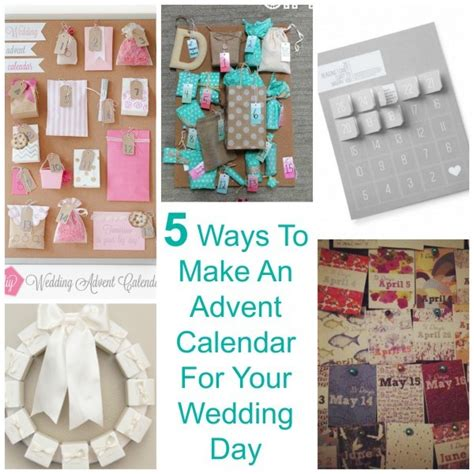 5 Ways To Be Trashy In Your Wedding Dress by 5 Ways To Make An Advent Calendar For Your Wedding Day