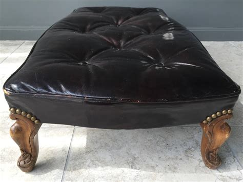 tortoise ottoman early 20th century tortoise color patent leather wide