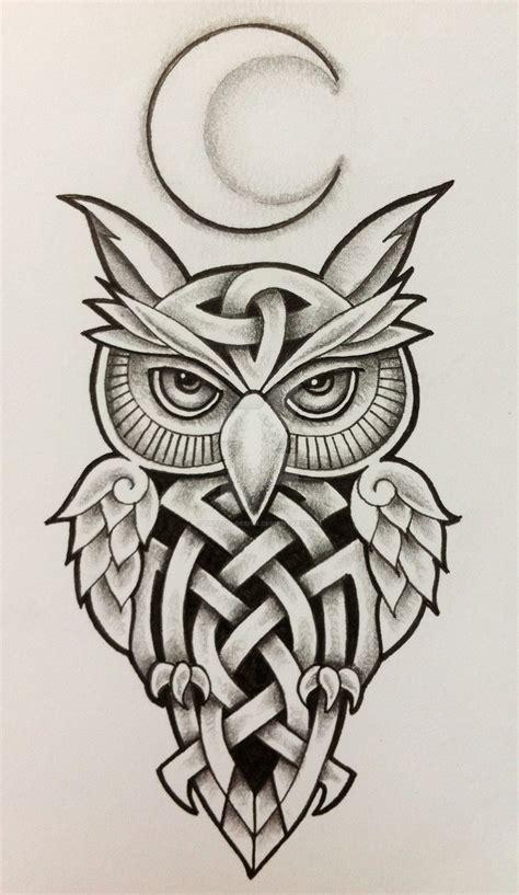owl viking tattoo celtic owl and moon by tattoo design on deviantart