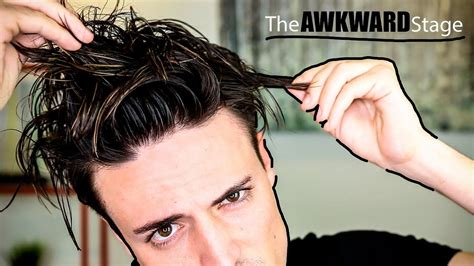 mens hair growing inbetween stege growing out your hair how to deal with the awkward stage