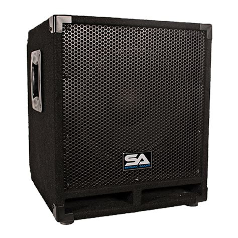 small audio video cabinet seismic audio powered 12 quot pro audio subwoofer cabinet