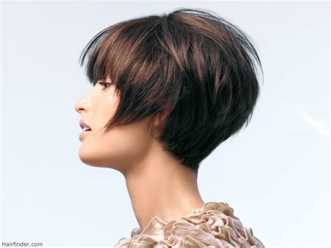 hair finder short bob hairstyles short haircut with the back graduated with a steep incline