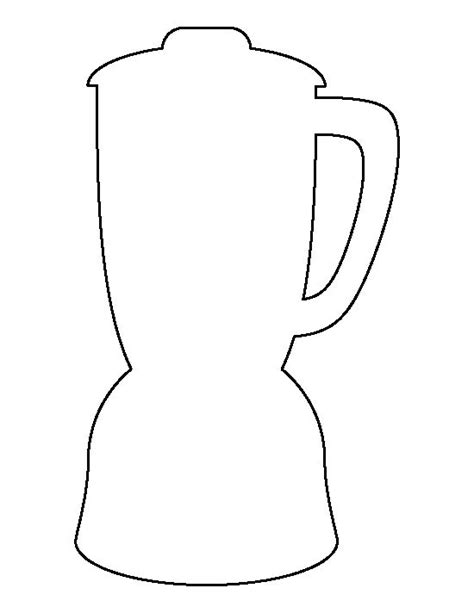 blender template blender pattern use the printable outline for crafts