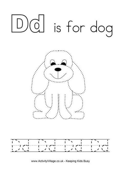 printable abc activities for 3 year olds tracing alphabet d smart kids printables