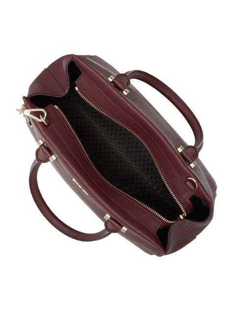 handbag 40655 20 burgundy dkny saffiano burgundy large satchel bag in purple lyst