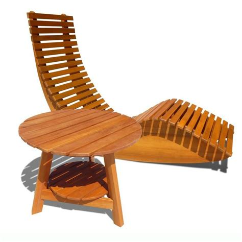Wooden Lounge Chairs Outdoor by Vifah V1123set1 Outdoor Wood Rocker Lounge