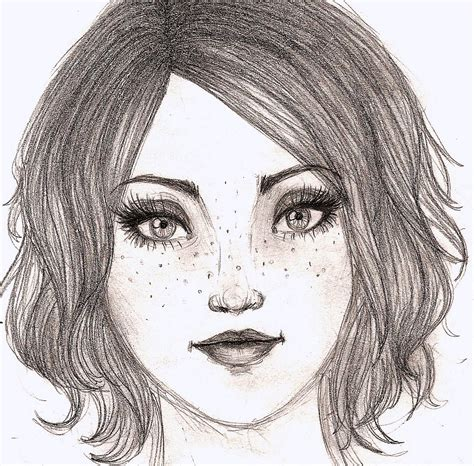 desenho femininos giovana toffoli rosto feminino d