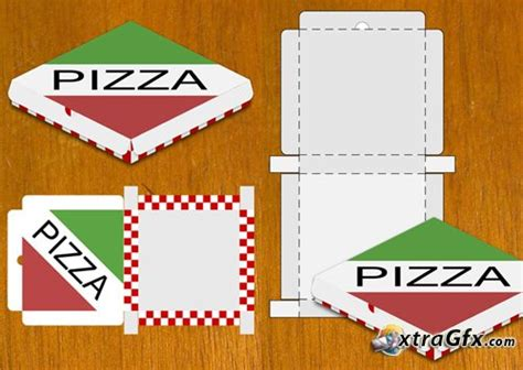 pizza box template pizza box design template for photoshop 187 xtragfx creating