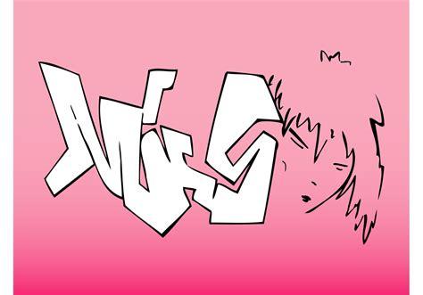 girl face graffiti   vector art stock