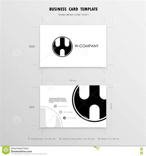 Caricature Business Card Templates by Contraction Illustrations Vector Stock Images