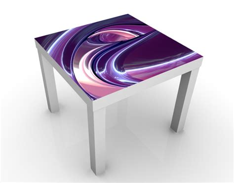 Purple Coffee Table Design Table Circles In Purple 55x45x55 Side Coffee Motif Picture Violet 3d Ebay