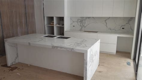 Kitchen With Island Bench by Calacatta Statuario Quartz Kitchen Amp Pantry Install