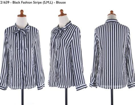 Dress Model Black Dan Striped Trendy New Impor 31639 black fashion stripe s blouse 166 000 soft