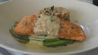 roast salmon steaks with pinot noir syrup recipe, whats