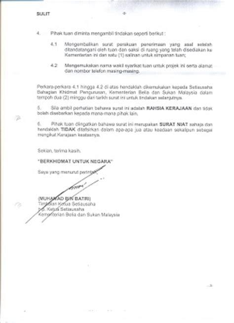 Letter Of Intent Adalah Rezqeen Hill Penjelasan Sebenar Kontrak Rajanongchik Dan Kontrak Kbs