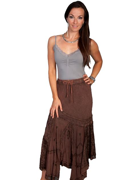 scully 174 blue western skirt