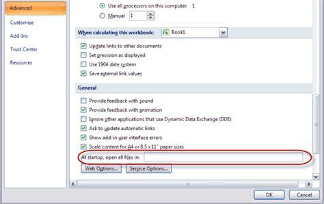Excel Startup Problems