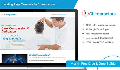 Html5 Responsive Download Chiropractic Ppc Landing Page Template Design With Free Builder For Ppc Landing Page Templates