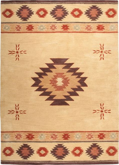 Southwestern Rizzy Rugs Southwest Beige Wool Southwestern Rugs