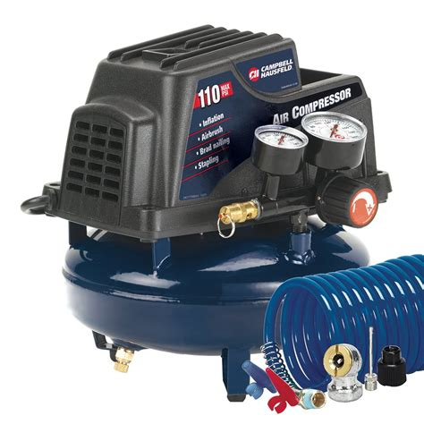 cbell hausfeld fp2028 1 gallon free pancake air compressor with accessory