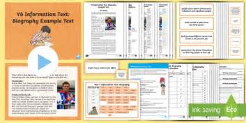 biography wagoll ks2 y6 information texts biography exle text genre wagoll