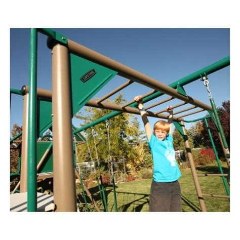 lifetime swing set accessories lifetime double slide deluxe playset earthtone 90240