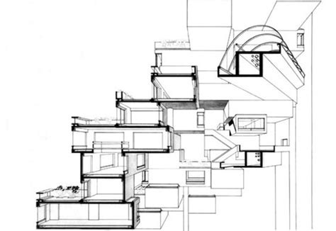 Electrical Floor Plan by Ad Classics Habitat 67 Safdie Architects Archdaily