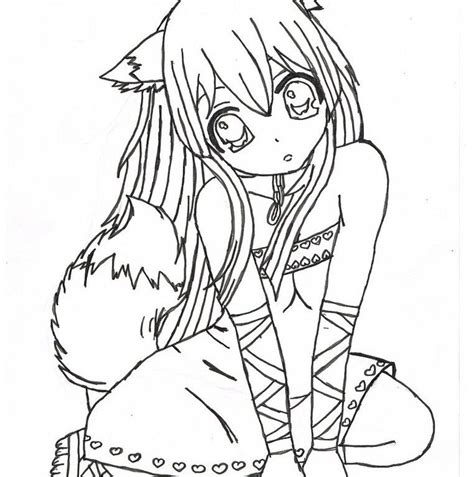 Kids Coloring Pages Printable Anime Fox Girl Coloring Home | kids coloring pages printable anime fox girl coloring home