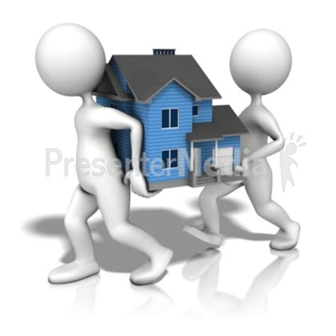 Figures Carrying House Presentation Clipart Great Clipart For Presentations Www Presenter Medi