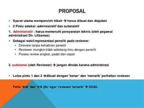 format proposal dikti 2016 memanfaatkan program hibah penelitian dikti pelatihan