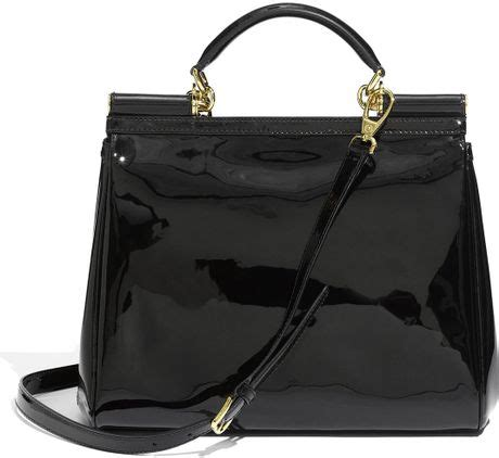 Dg Dolce And Gabbana Zoe Patent Leather Satchel by Dolce Gabbana Miss Sicily Patent Leather Top Handle