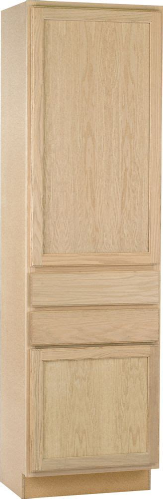 24x84x18 in pantry cabinet in unfinished oak ucdr2484ohd unbranded unfinished oak 24x84x18 utility cab the home