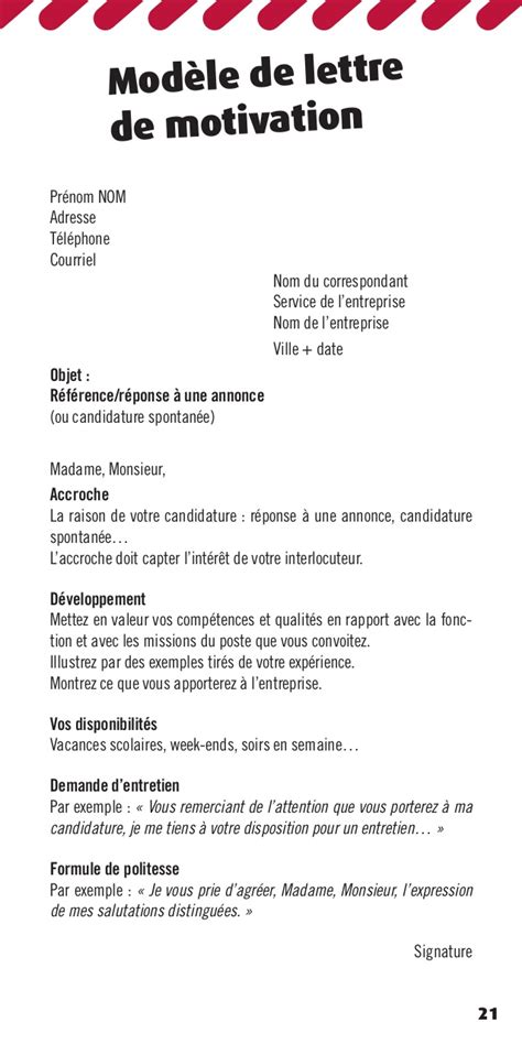 Lettre De Motivation De Week End Trouver Un Emploi Sans Dipl 244 Me