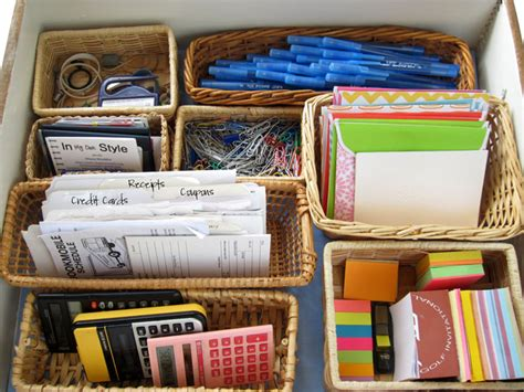 organizing a desk without drawers organize your desk drawer a style